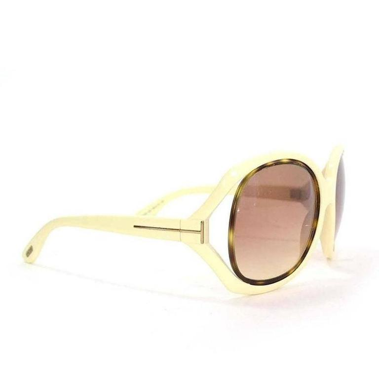 Tom Ford Oversized Sunglasses Cream 3