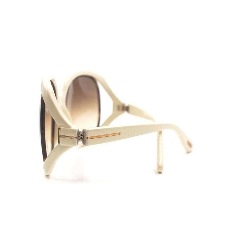 Tom Ford Oversized Sunglasses Cream 6