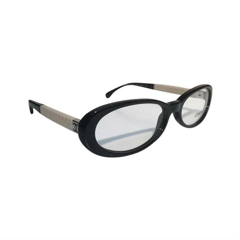 Chanel Eyeglasses, Black and Beige 1