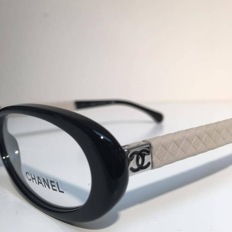Chanel Eyeglasses, Black and Beige 2