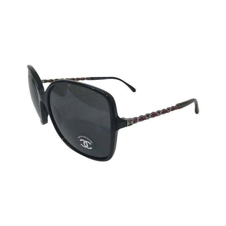 Chanel Sunglasses, Black and Silver 1