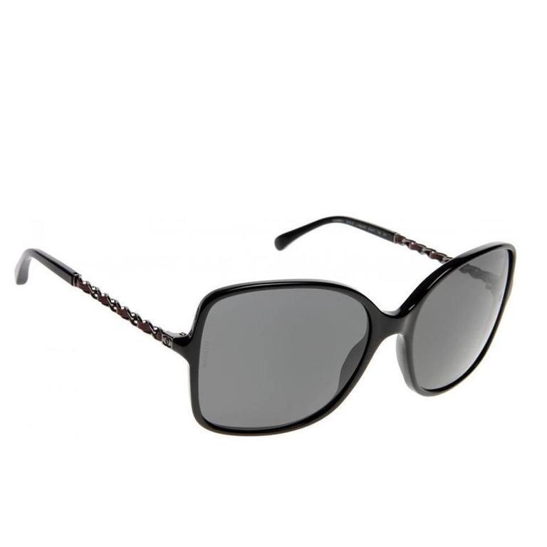 Chanel Sunglasses Black and Silver 1
