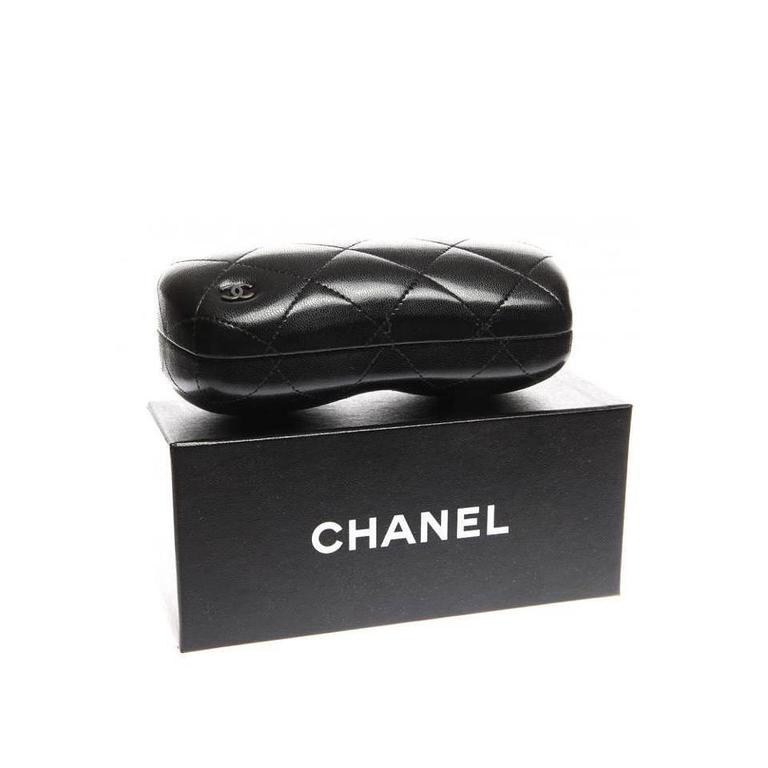 Chanel Sunglasses Black and Silver 3