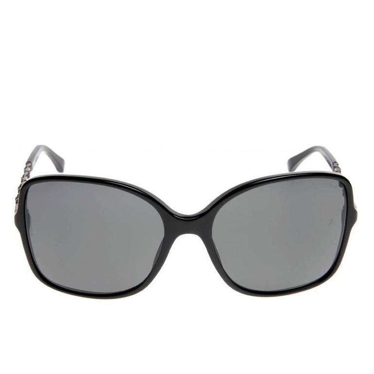 Chanel Sunglasses Black and Silver 2