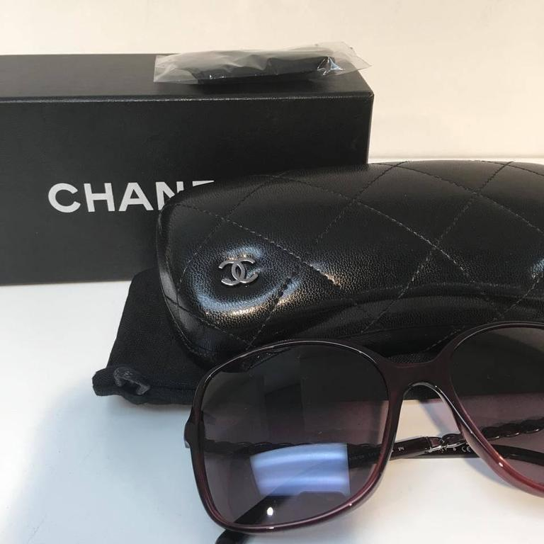 Chanel Sunglasses, Red and Silver 5