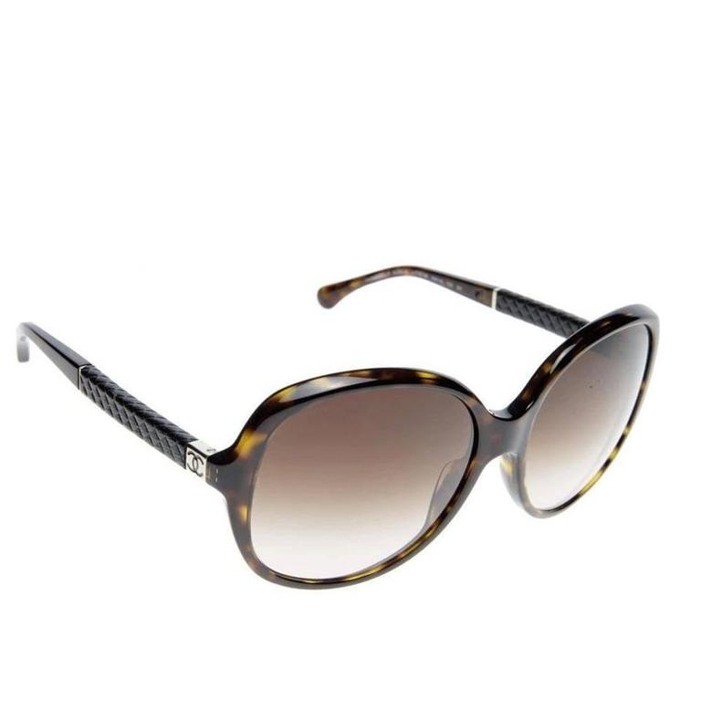Chanel Sunglasses, Dark Tortoise and Brown (CH5232Q)