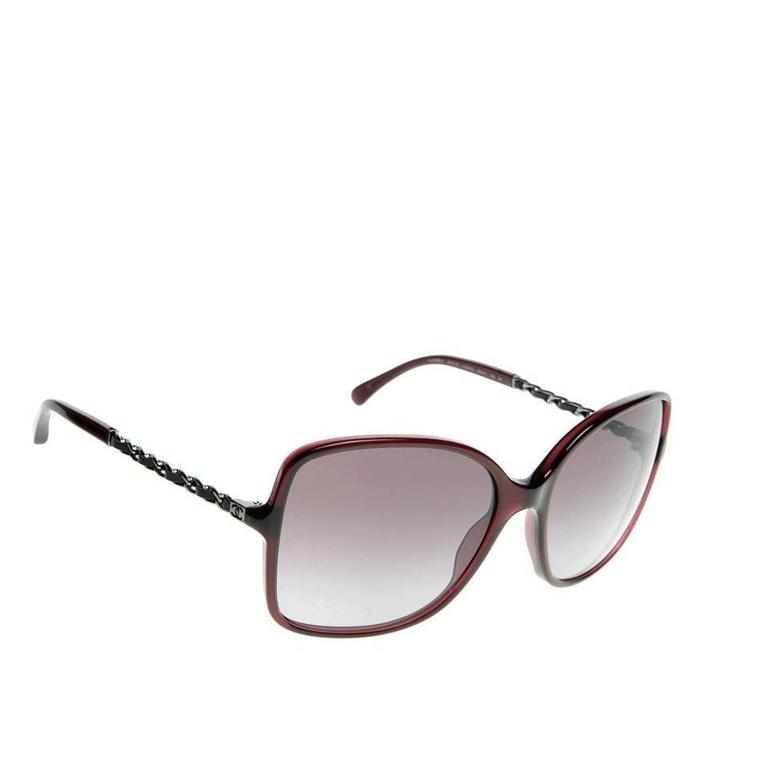 Chanel Sunglasses Red and Silver 2