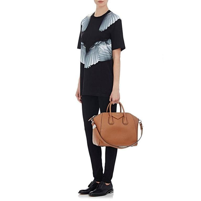 Women's Givenchy Antigona Medium Calfskin Duffle Shoulder Bag, Caramel For Sale
