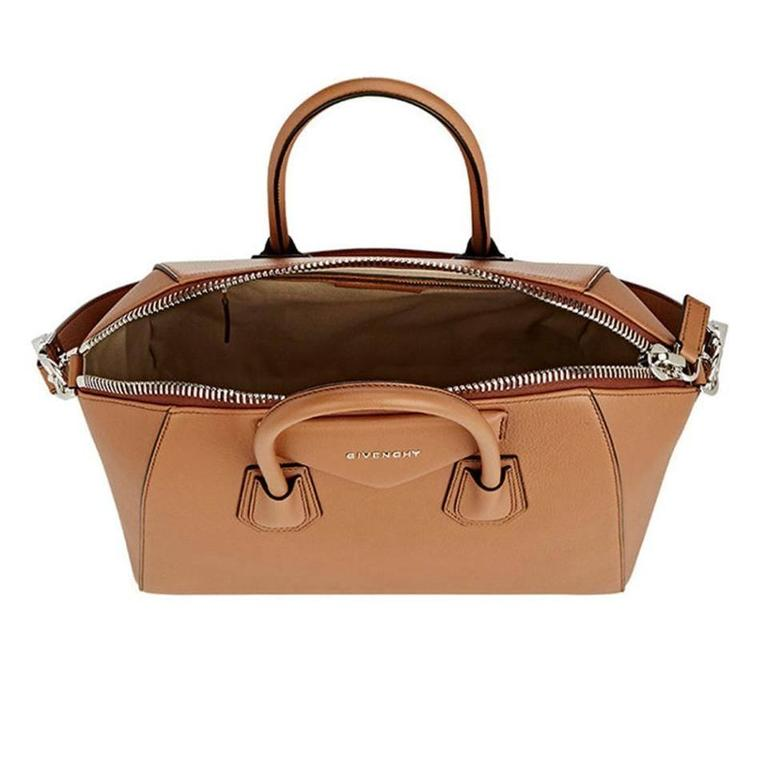 Givenchy Antigona Medium Calfskin Duffle Shoulder Bag, Caramel In New never worn Condition For Sale In Los Angeles, CA