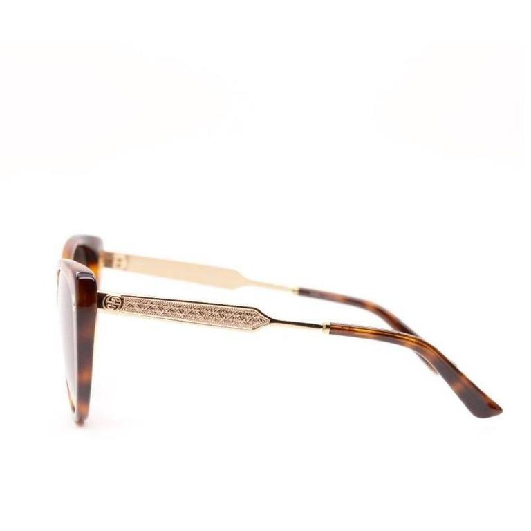 Gucci Sunglasses Havana Gold In New never worn Condition For Sale In Los Angeles, CA