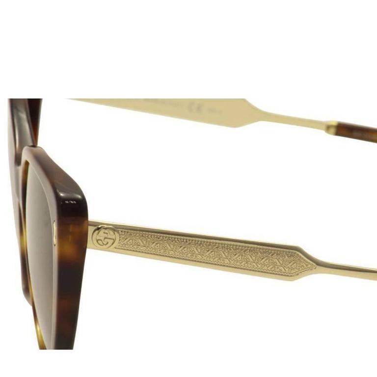 Gucci Sunglasses Havana Gold 6