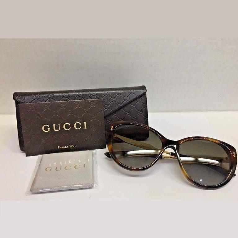 Gucci Sunglasses Havana Gold 7