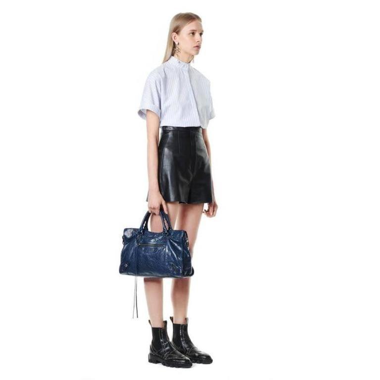 Balenciaga Classic City Bleu Obscure Handbag Satchel 5