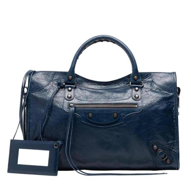Balenciaga Classic City Bleu Obscure Handbag Satchel 1