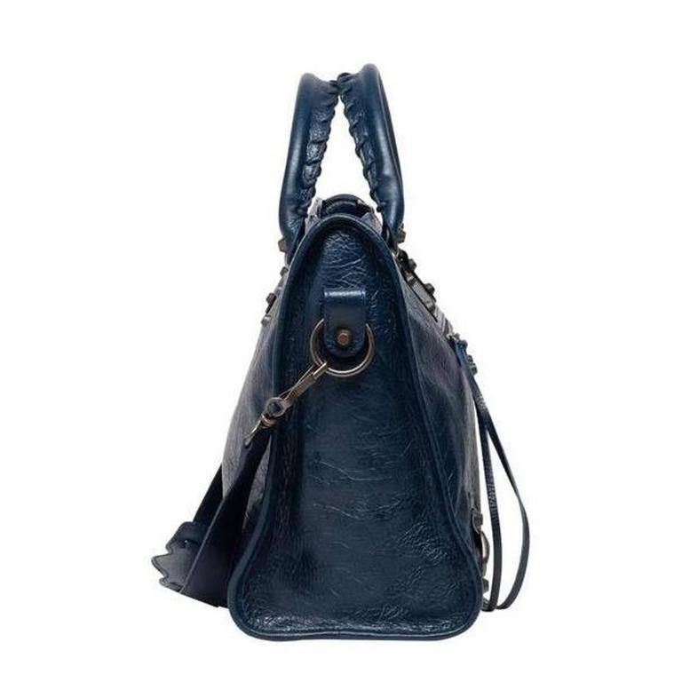Balenciaga Classic City Bleu Obscure Handbag Satchel 3