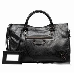 Balenciaga Classic City Black Handbag Satchel