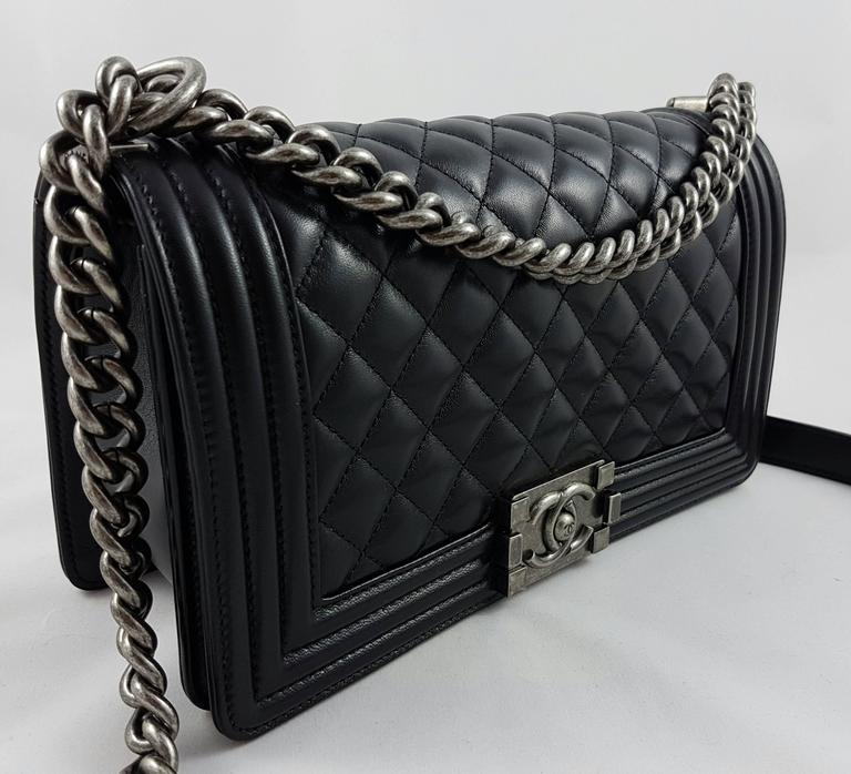 8c398aa3b882d3 Chanel Boy Bag Black And Silver | Stanford Center for Opportunity ...