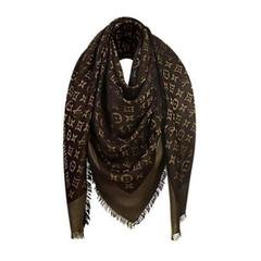 Louis Vuitton Monogram Shawl Brown Lurex - M75122