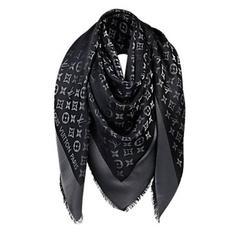 Louis Vuitton M72252 Monogram Black Shine Shawl
