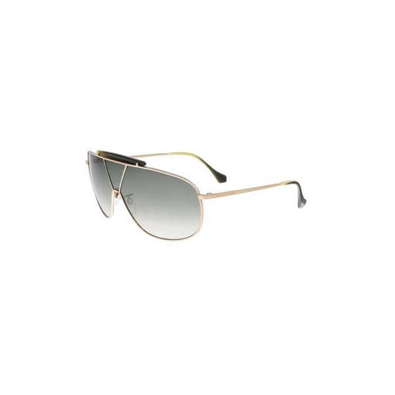 Gray Balenciaga BA0030 28P 66 Shiny Rose Gold / Gradient Green Sunglasses For Sale