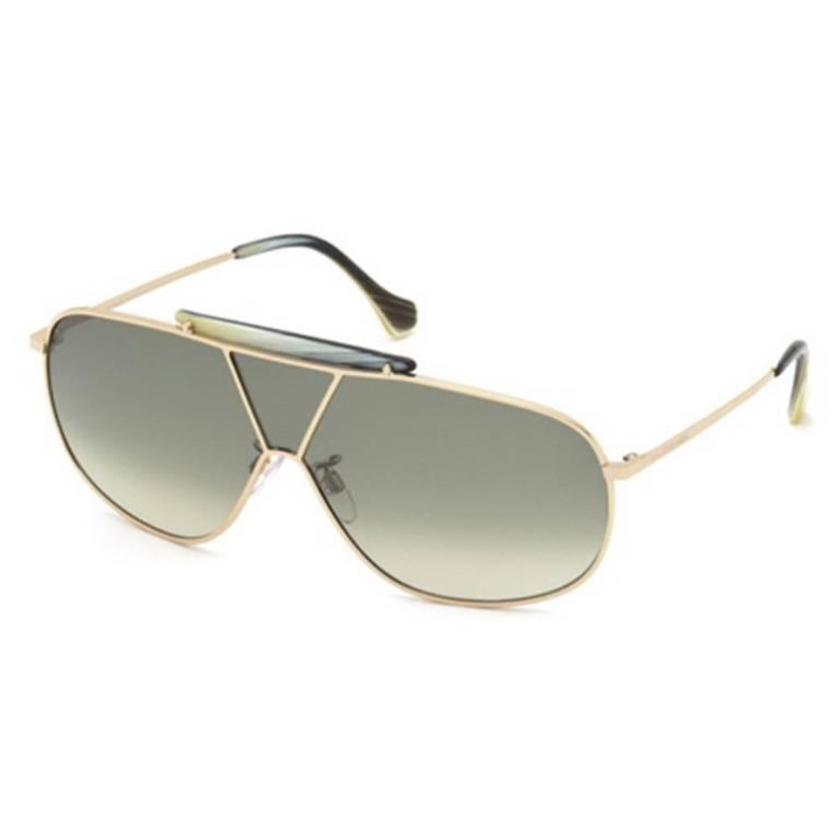 Balenciaga BA0030 28P 66 Shiny Rose Gold / Gradient Green Sunglasses In New never worn Condition For Sale In Los Angeles, CA