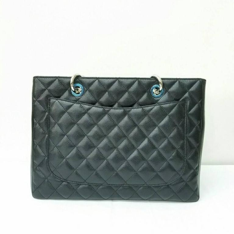 chanel caviar quilted grand shopping tote gst at 1stdibs. Black Bedroom Furniture Sets. Home Design Ideas