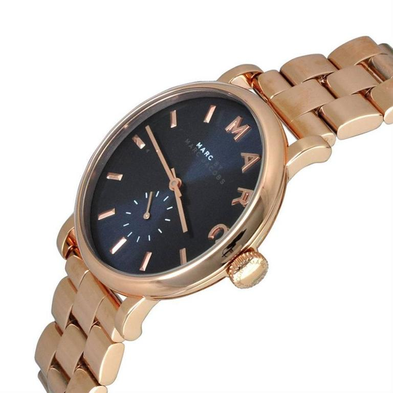Marc by Marc Jacobs Baker Navy Dial Rose Gold-tone Steel Ladies Watch MBM3330 2