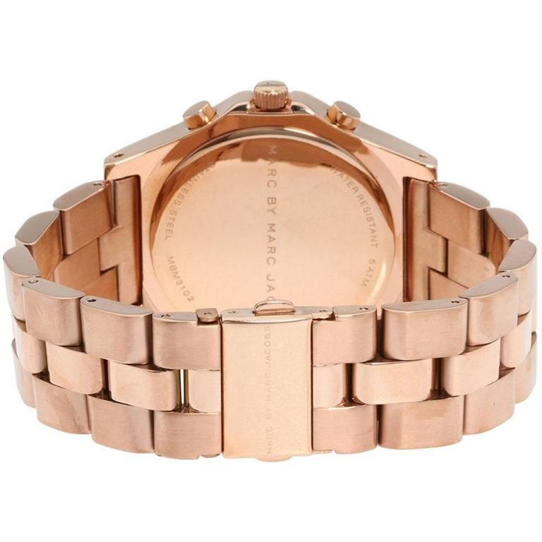 Marc by Marc Jacobs Blade Chronograph Pink Gold Dial Gold-Tone Stainless Steel L 2