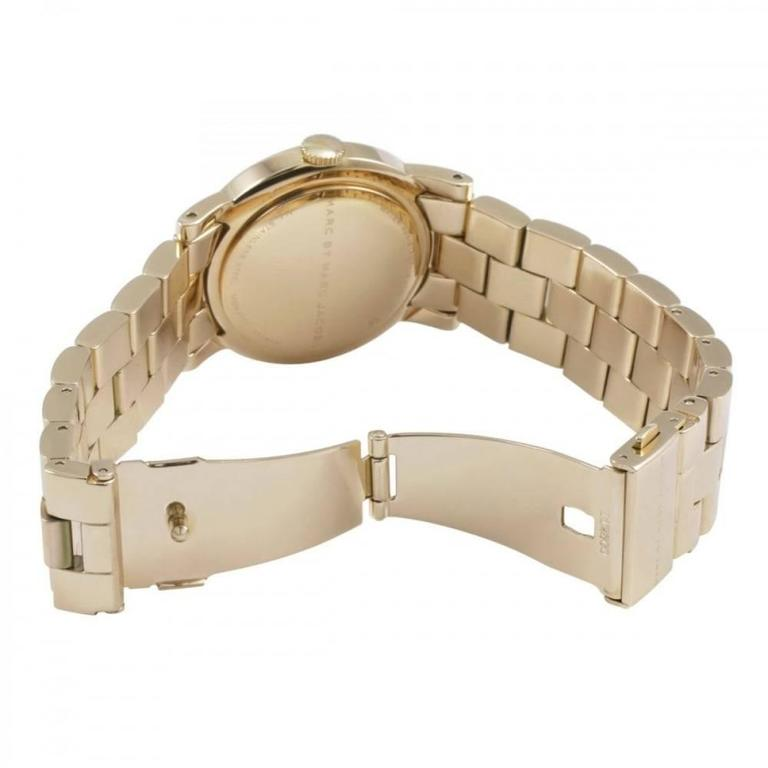 Marc by Marc Jacobs Amy White Dial Gold-Tone Stainless Steel Ladies Watch MBM305 2