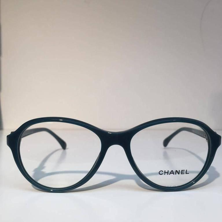 Chanel Eyeglasses, Teal Green (CH3226)