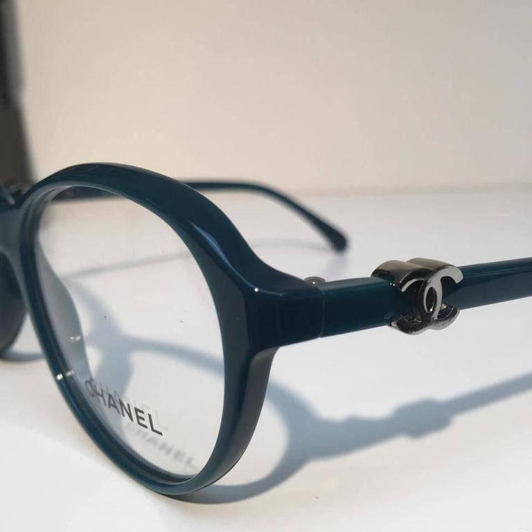 Women's Chanel Eyeglasses, Teal Green (CH3226) For Sale