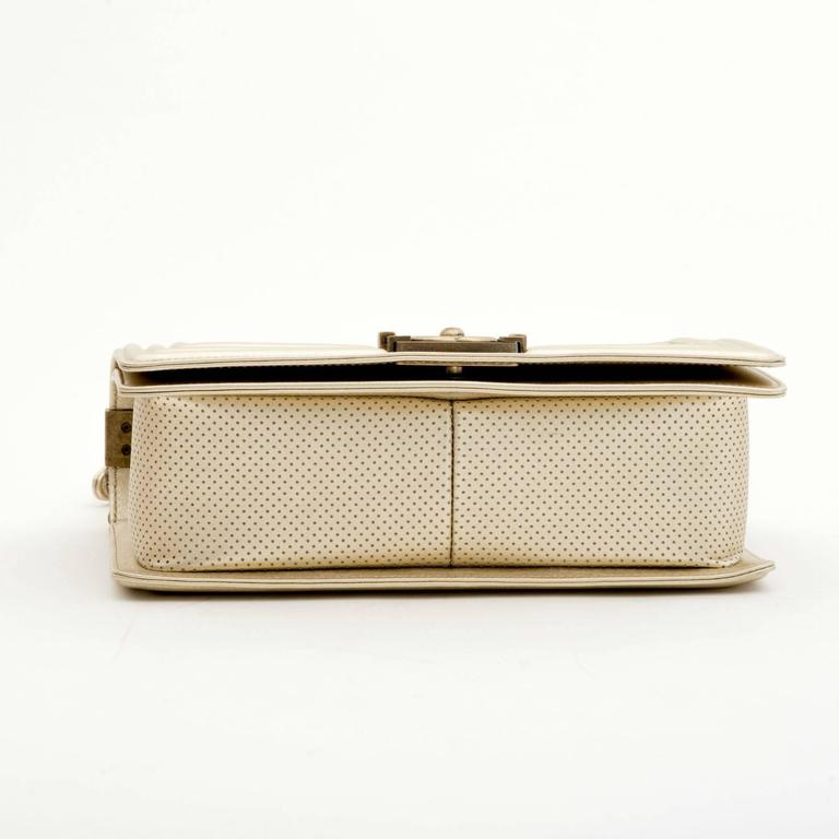 Women's Chanel Perforated Quilted Leather Gold For Sale