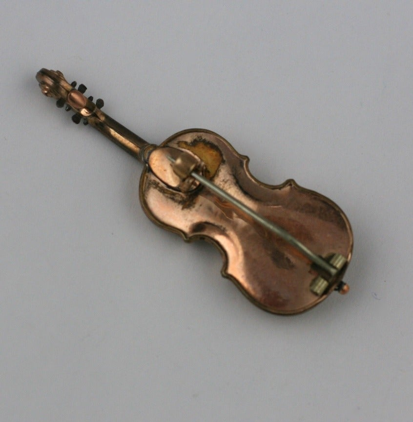 Victorian Violin Brooch In Excellent Condition For Sale In Riverdale, NY