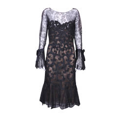 Oscar de la Renta Guipure Lace Cocktail Dress