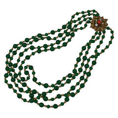 Haskell Style Emerald Bead Necklace