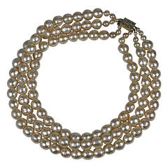 3 Strand Rousselet Pearl Necklace