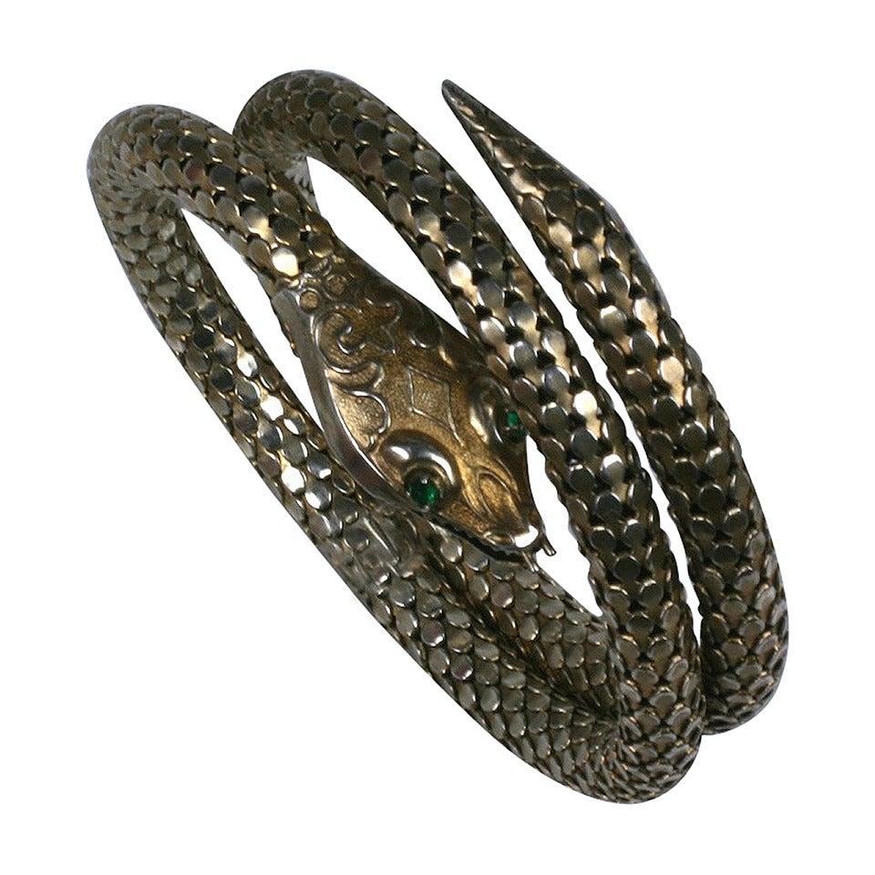 Victorian Sterling Snake Bangle 1