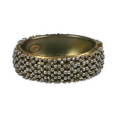 Miriam Haskell Pearl Lattice Cuff Bracelet