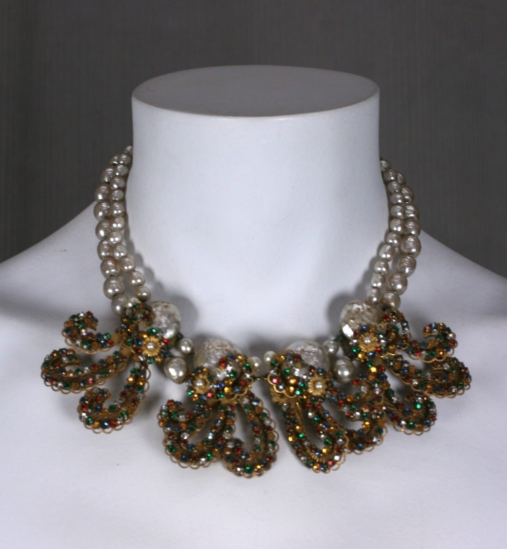 Miriam Haskell Anglo Indian Festoon Necklace 5