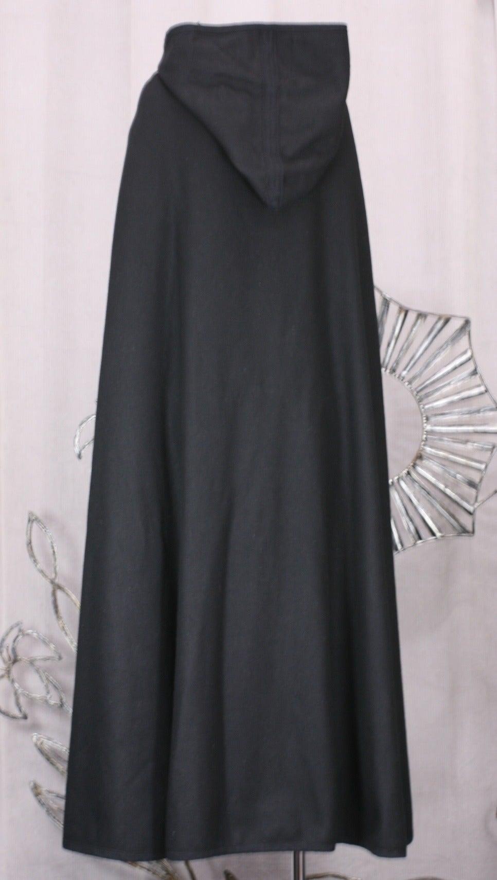 Women's Wool Melton Cape, Attrib. YSL For Sale