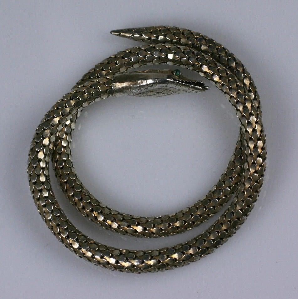 Victorian Sterling Snake Bangle 2
