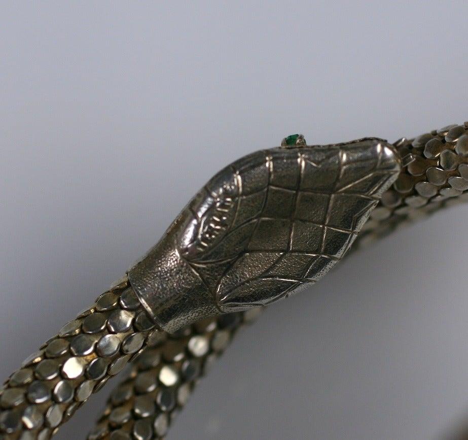 Victorian Sterling Snake Bangle 4