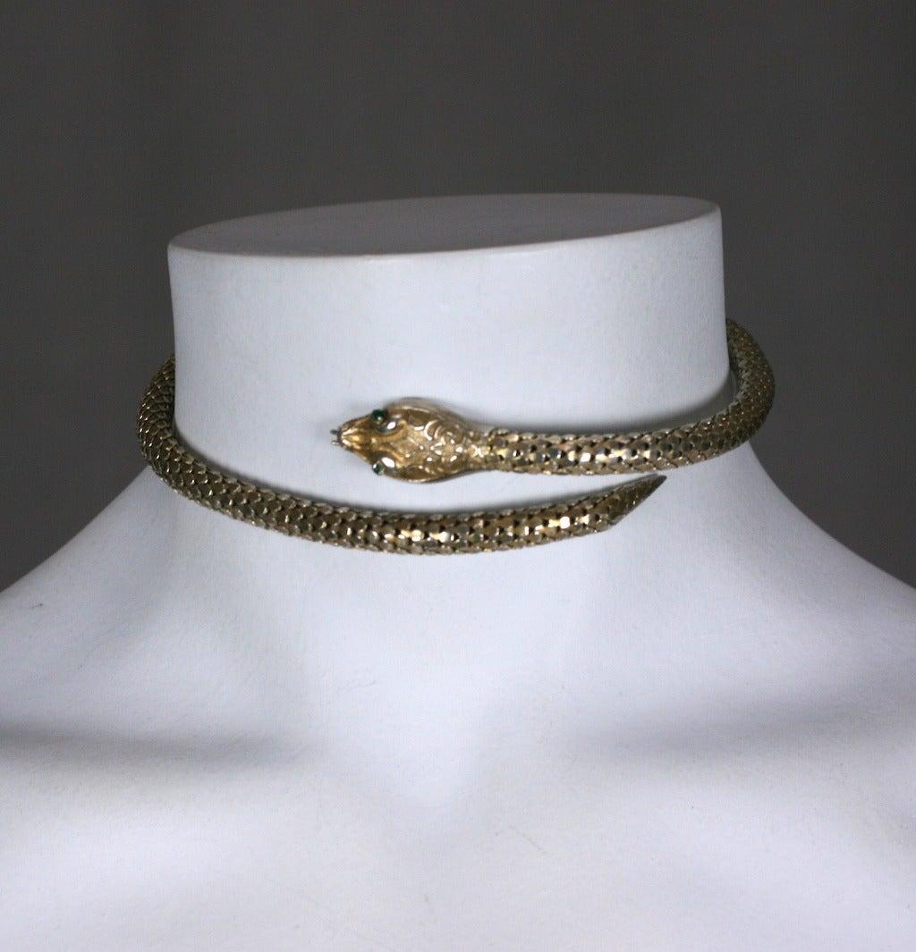 Victorian Sterling Snake Bangle 6
