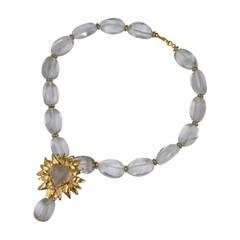 Robert Goossens Rock Crystal Heart Necklace