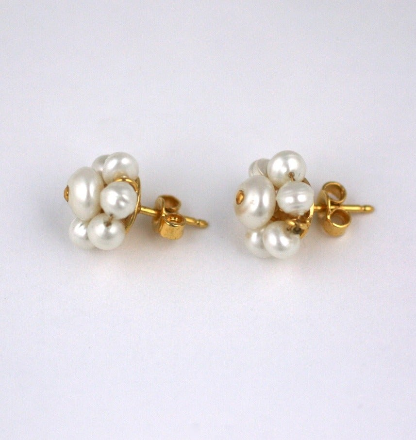 Chanel Mini Pearl Studs 3