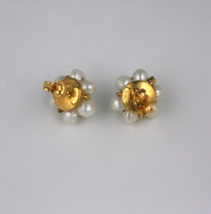 Chanel Mini Pearl Studs 4