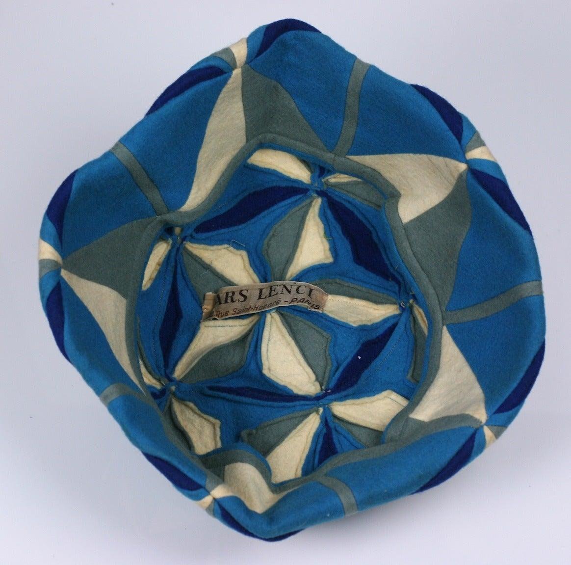 Men's Lenci Art Deco Cubist Wool Beret For Sale