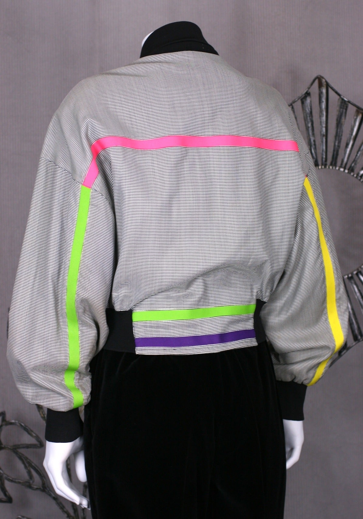 Gianni Versace Houndstooth Fluo Bomber 3