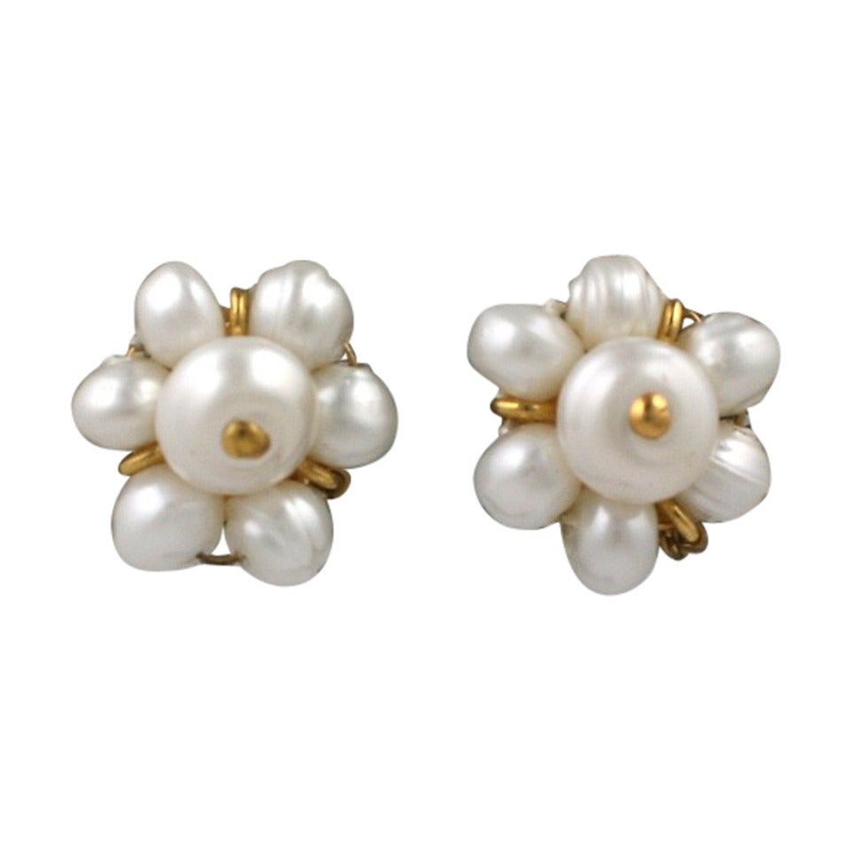 Chanel Mini Pearl Studs 1