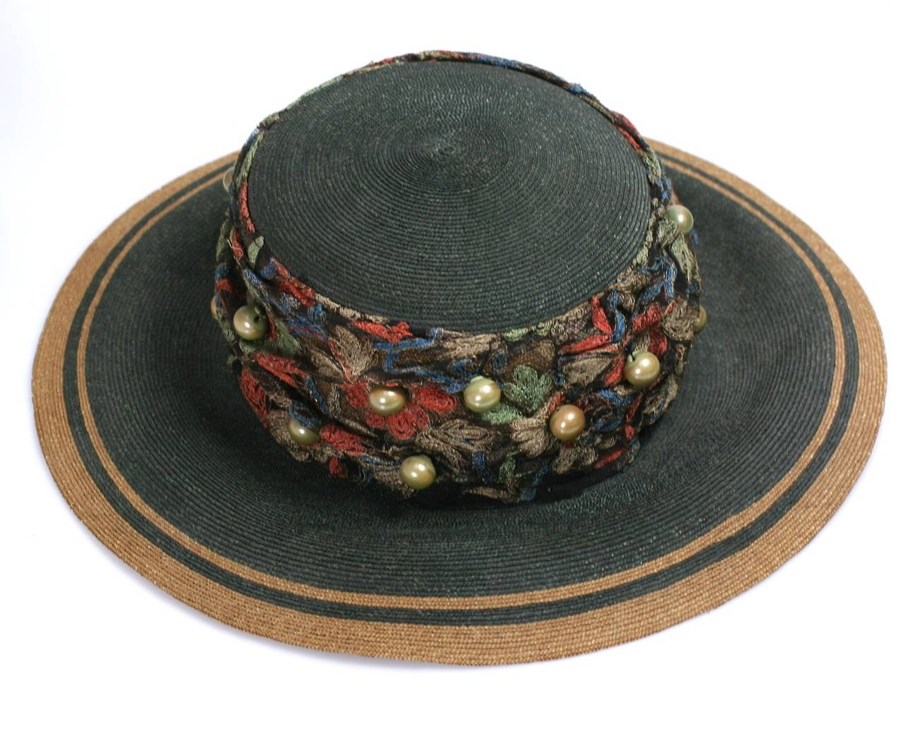 Women's Edwardian Straw Afternoon Hat For Sale